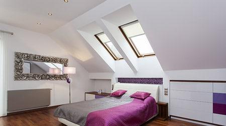 Een opfrisbeurt voor uw zolder plaats een dakraam for Slaapkamer op de zolderfotos
